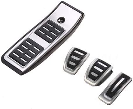 WANWU Car Gas Fuel Pedal Cover Brake Pedals Rest Pedal Covers for Audi A4 B9 F5 2016-19 MT
