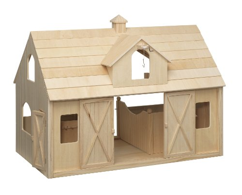 Breyer Traditional Deluxe Wood Horse Barn with Cupola Toy Model (Breyer Barn And Horses)