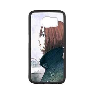 Samsung Galaxy S6 Cell Phone Case Black short hair illust art JNR2134154