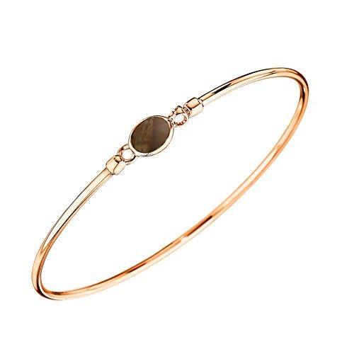 Quartz Smokey Gold Necklace - Di Modolo Smokey Quartz Bangle Bracelet in Plated 18K Rose Gold MSRP 475