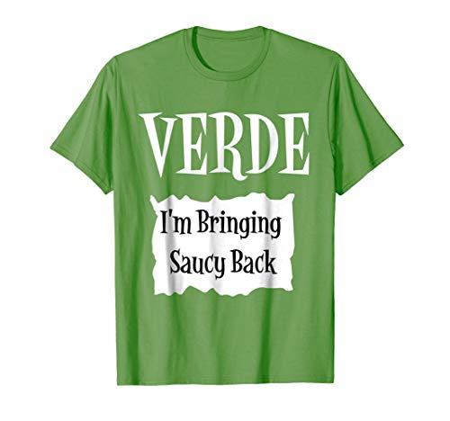 VERDE - Hot Packet Halloween Taco Costume T-Shirt ()