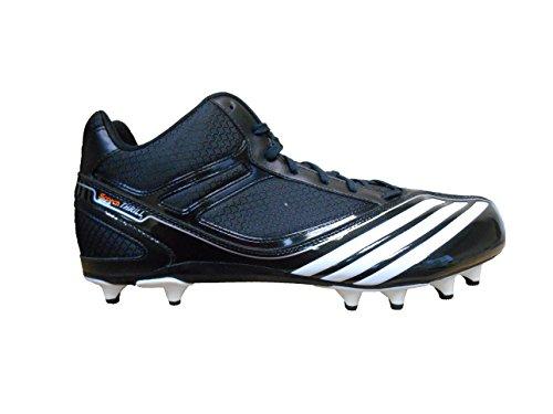 Adidas Menns Sm Scorch Spenningen Fly Midten Fotball Cleats Svart / Løper Hvit