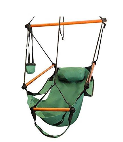 Eight24hours Hammock Chair Swing Seat Indoor Outdoor Garden Patio Yard Single Hanging Rope - Green by Eight24hours