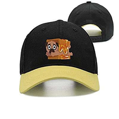 Trum Namii Unisex Trucker Hat Pug Puppy Bread Adjustable Snapback Baseball Cap