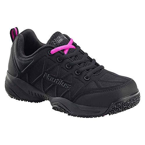 Shoe Toe Work Nautilus Composite - Nautilus Women's Lightweight Athletic Work Shoes Composite Toe Black 7.5 M