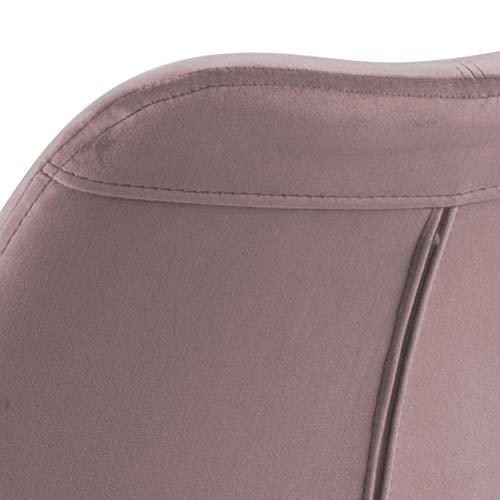 55 x 55 x 85 cm Movian Arendsee Juego de 2 sillas de comedor Brand rosa largo x ancho x alto