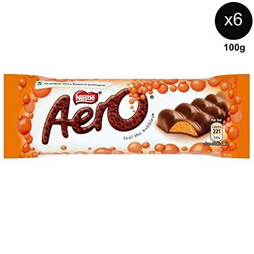 Nestles Aero Orange Chocolate 100gx 6 - UK Chocolate Candy. -