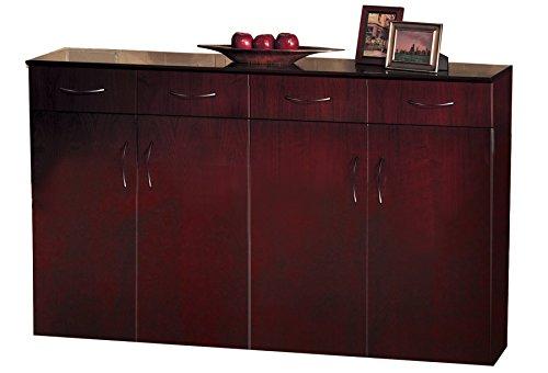 Safco Products VBCZMAH Napoli Cabinet, Mahogany Veneer