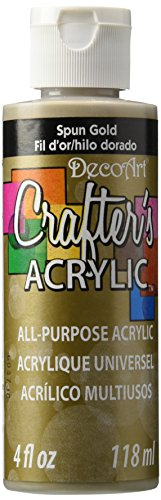 DecoArt Crafter's Acrylic Paint, 4-Ounce, Spun Gold