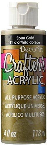 DecoArt Crafter's Acrylic Paint, 4-Ounce, Spun Gold