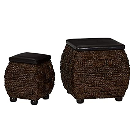 Miraculous Amazon Com Otto Faux Leather Ottoman Storage Square Lamtechconsult Wood Chair Design Ideas Lamtechconsultcom