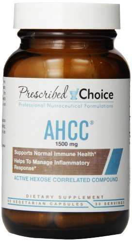 Prescribed Choice AHCC Capsules, 1500 mg, 60 Count by Prescribed Choice