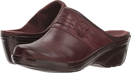 Detailed Clogs - Clarks Women's Marion Jess Clog, Mahogany Leather, 8.5 W US
