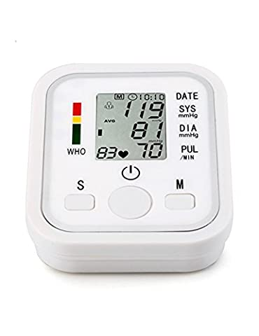 Blood Pressure Pulse Oximeter Monitor with Fully Automatic Digital LCD Arm for Health Care Upper - Digit Finger Pulse Oximeter