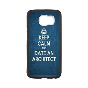 Keep Calm and Date an Architect Samsung Galaxy S6 Case, Samsung Galaxy S6 Cases for Girls Luxury Zachcolo - White