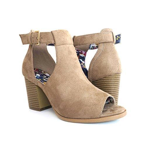Strap Mid Heel Sandal - 3