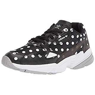 adidas Originals Women's Falcon Sneaker, core Black/Crystal White/Grey, 9.5 M US