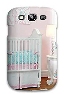 Unique Design Galaxy S3 Durable Tpu Case Cover Pink Girl8217s Nursery With Personalized Initial Artwork