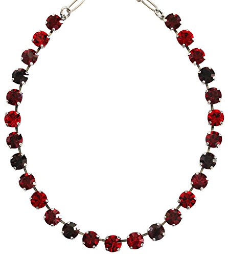 Mariana Silvertone Classic Shapes Crystal Necklace,