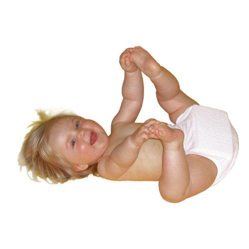 BABY-WALZ Spreizhöschen Stoffwindel, Größe 3, weiß