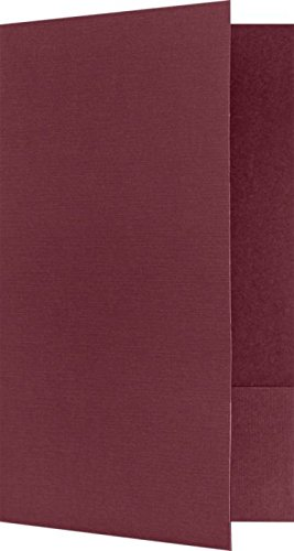 "Legal Size Folders - Standard Two Pockets - Burgundy Linen - Pack of 25 | Perfect for Holding Legal Size 8 1/2"" x 14"" Paper and documents 