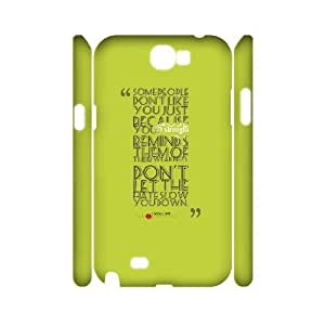 3D Dustin Funny Quote Samsung Galaxy Note 2 Cases Thema Davis Quote About Strength, [White]