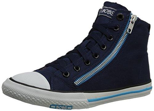 BOBS from Skechers Women's Utopia Zipper High Top Fashion Sneaker,Navy,10 M US