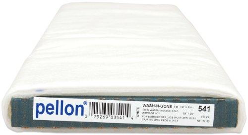 (Pellon FBA_541 WaterSoluableStabWetnGone25, 1 Pack, White)
