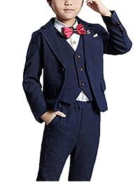 MFrannie Boys Western Style Vest Blazer Pants 3 Pieces Toddler Suit Set