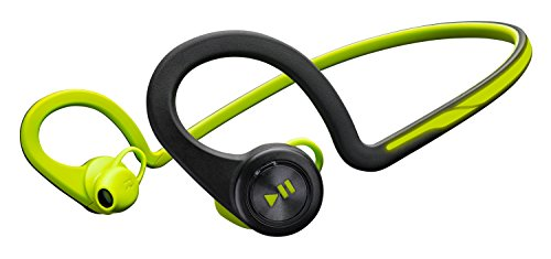 Plantronics Backbeat Fit Wireless Bluetooth Workout Headphones   Waterproof Sports Headphones For Running And Workout  Green  Frustration Free Packaging