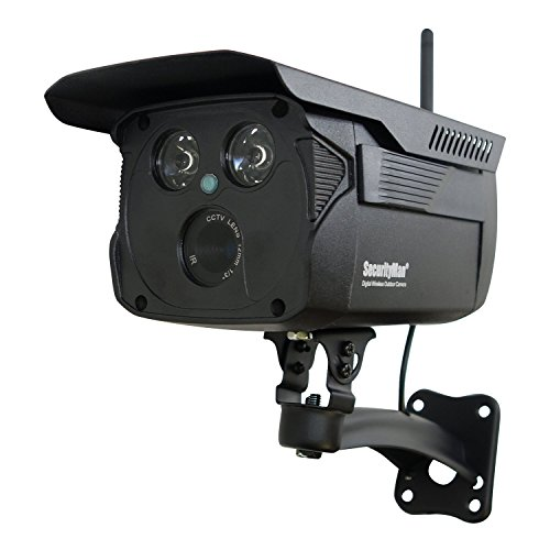 Securityman SM-804DT Enhanced Weatherproof Digital Wireless Camera with Night Vision (Black)