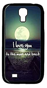Love Story Hard Cover Back Case For Samsung Galaxy S4,PC Black Case for Samsung Galaxy S4 i9500