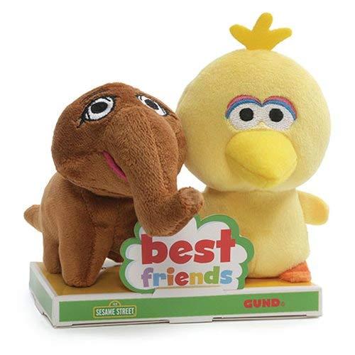 (GUND Sesame Street Big Bird and Mr. Snuffleupagus BFF Plush Set )