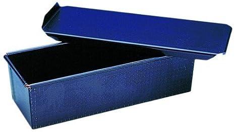 Molde Pan de Miga con Tapadera en Acero Azul. Largo: 16 cm. Ancho: 8 cm.: Amazon.es: Hogar