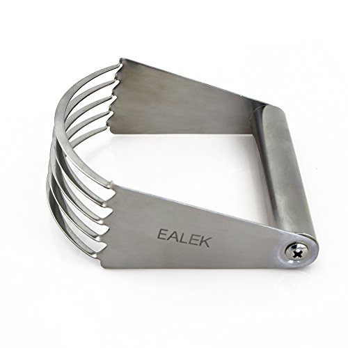 EALEK Stainless Steel Pastry Blender, Baking Dough Blender with Blades, Heavy Duty Pastry Cutter, Dough Mixer