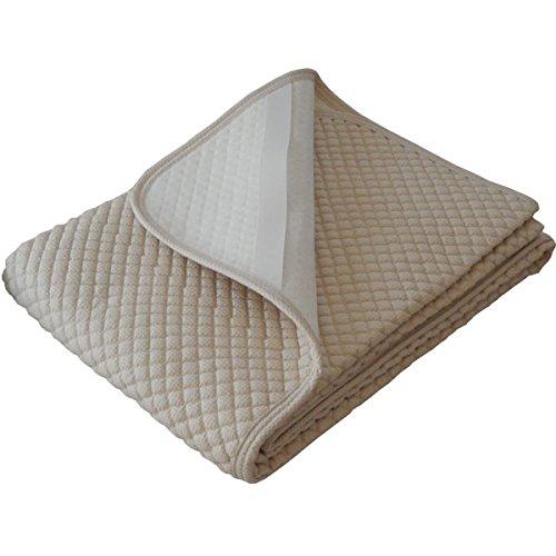 日本製 敷きパッド 洗える 夏用汗取りパット ワッフル生地のぽこぽこキルト (クィーン160×205cm, ベージュ) B00Y08XWS0 クィーン160×205cm|ベージュ ベージュ クィーン160×205cm
