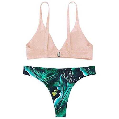 Ragazza Monokini Set B Costume 5 Stampa Spiaggia Reggiseno Donna Halter Bagno Due Pezzi Bikini Bikini Imbottito Up Push Da Mambain Donna Mare Beachwear Coordinati Bikini Sexy fYY4ORwq