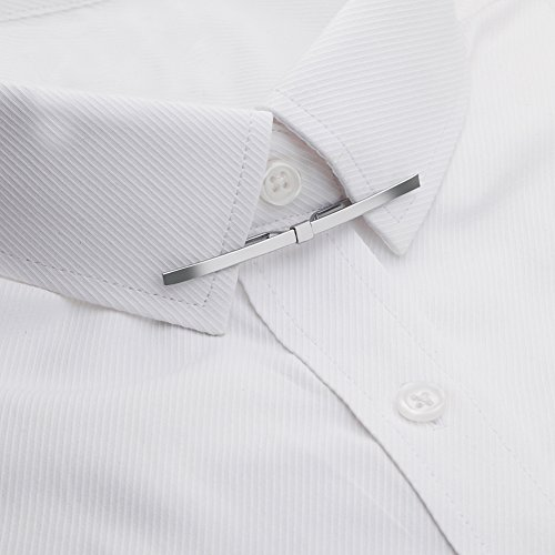AnotherKiss Tie Collar Bar Pin Set for Men - 6 Pieces of Gold and Silver Two Tone by AnotherKiss (Image #5)
