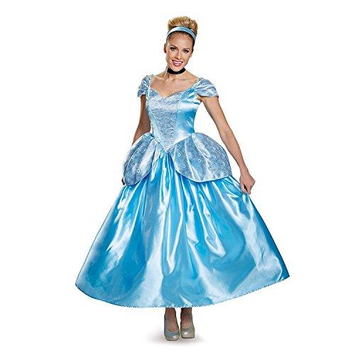Disguise Women's Cinderella Prestige Adult Costume, Blue, (Women's Prestige Cinderella Costumes)