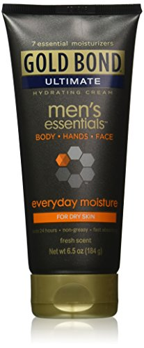 Gold Bond Ultimate Men's Essentials Everyday Formula Hydrating Cream, 6.5 Ounces (1 Pack)