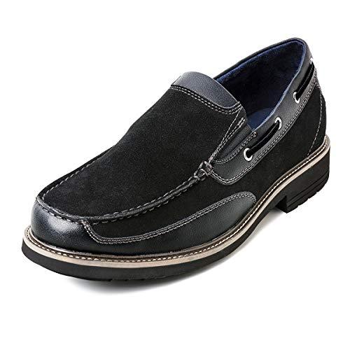 ZRIANG Top-Sider Men's Billfish 3-Eye Boat Shoe (8.5 M US, Black-2)