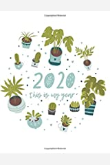 "2020 This is My Year: 8.5x11"" Yearly Self-Care and Goal Tracking Yearly Planner (plant lover) Paperback"