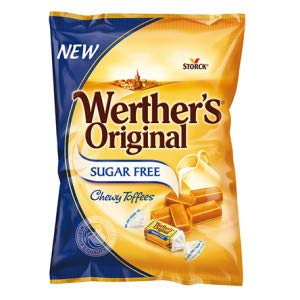 Werther's Original Sugar Free Chew Toffees 80g (Pack of 18)