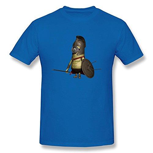 DASY Men's O Neck Spartan Minion Shirt Small