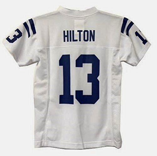 T Y  Hilton Indianapolis Colts Nfl Youth White Road Replica Jersey  Size Small 8