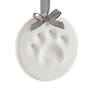 Pearhead Pet Paw Prints Dog Or Cat Paw Print Keepsake Ornament Round