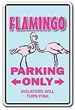 FLAMINGO ~Novelty Sign~ parking lover animal pink gift