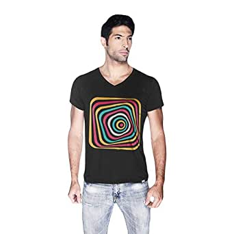 Creo Abstract 03 Retro T-Shirt For Men - S, Black