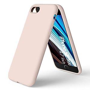 ORNARTO Coque Nouveau iPhone SE/7/8 en Silicone, Protection Complète du Corps, Liquid Silicone Cover Protection Bumper…