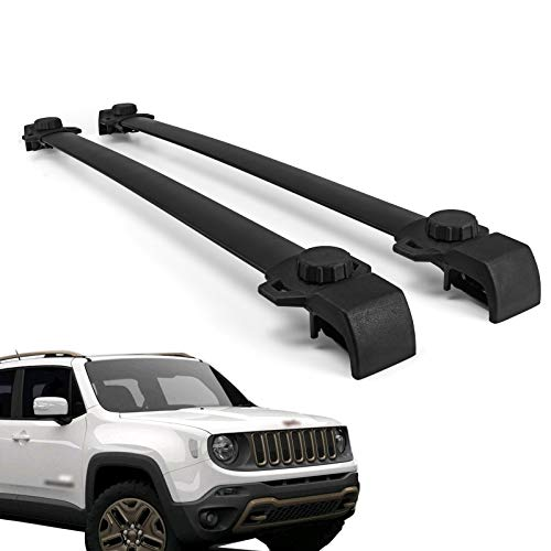 - Mophorn Roof Rack Cross Bars Baggage Locking Roof Rail Crossbars Luggage Cargo Ladder Bike Load Roof Cross Bars Black (for Jeep Renegade Black, for Jeep Renegade 2014-2018 Black)